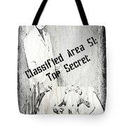 Area 51 Declassified Tote Bag