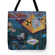 Area 51.5 Time Warp Tote Bag by Anthony Morris