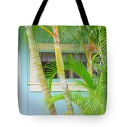 Areca Palms At The Window Tote Bag