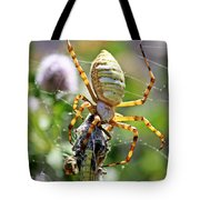 Argiope Spider And Grasshopper Vertical Tote Bag