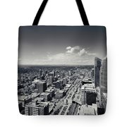 Arial View Of Calgary Facing West Tote Bag