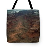 Ariel Photograph During A Spring Storm Tote Bag
