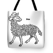 Aries Constellation Zodiac Sign 1482 Tote Bag by Science Source