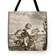 Arion Preserved By A Dolphin, 1731 Tote Bag