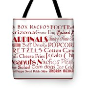 Arizona Cardinals Game Day Food 3 Tote Bag