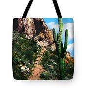 Arizona Saguaro Tonto National Monument Tote Bag