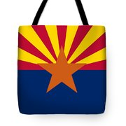 Arizona State Flag Authentic Color And Scale Version Tote Bag