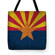 Arizona State Flag Tote Bag by Pixel Chimp