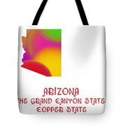 Arizona State Map Collection 2 Tote Bag
