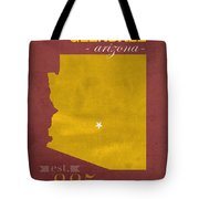 Arizona State University Sun Devils Glendale College Town State Map Poster Series No 012 Tote Bag