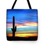 Arizona Sunset Saguaro National Park Tote Bag