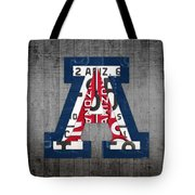 Arizona Wildcats College Sports Team Retro Vintage Recycled License Plate Art Tote Bag
