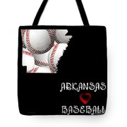 Arkansas Loves Baseball Tote Bag by Andee Design