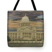 Arkansas State Capitol Tote Bag by Mary Ann King