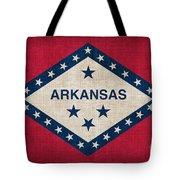 Arkansas State Flag Tote Bag by Pixel Chimp