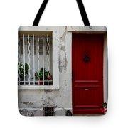Arles House With Red Door Dsc01806  Tote Bag