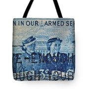 Armed Services Women Stamp Tote Bag