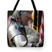 Armored Joust Knight Tote Bag