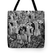 Army Air Corp Over Manhattan Tote Bag