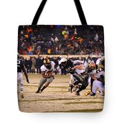 Army And Navy In The Snow Tote Bag