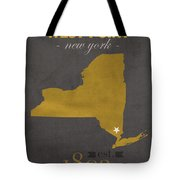 Army Black Knights West Point New York Usma College Town State Map Poster Series No 015 Tote Bag
