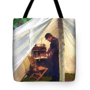 Army - Civil War Officer's Tent Tote Bag