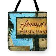 Arnauds New Orleans_oil Digital Art Tote Bag