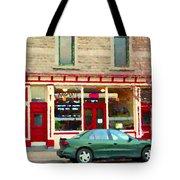 Aromate Resto Cafe Rue St Jacques St Henri  Montreal Urban Food City Scenes Carole Spandau Tote Bag