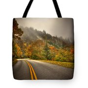 Around The Bend Clouds Along The Blue Ridge Parkway Tote Bag