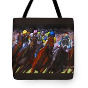 Around The Turn They Come Tote Bag