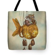 Around The World In The Goldfish Flyer Tote Bag