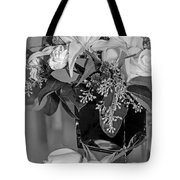 Arrangement In Black And White  Tote Bag