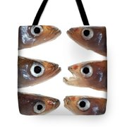 Arrangement Of Small Fish Smelt Tote Bag