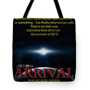 Arrival Faux Movie Poster Tote Bag
