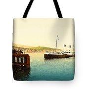Arrival Of Boulogne Boat Folkestone - England  Tote Bag