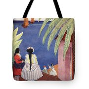 Arrival Of The French Frigates Tote Bag