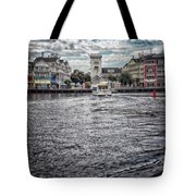 Arriving At The Boardwalk Before The Storm Tote Bag