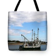 Arriving At The Harbor Tote Bag