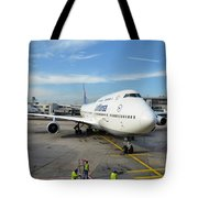 Arriving Tote Bag