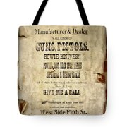 Arrow Rock - Gunsmith Sign Tote Bag
