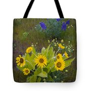 Arrowleaf Balsamroot And Lupine Tote Bag