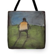 art critic relieves himself on Rothko's field Tote Bag