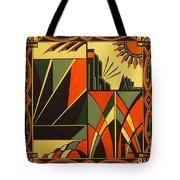 Art Deco In Orange Tote Bag