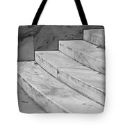 Art Deco Steps In Black And White Tote Bag