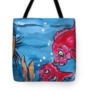 Fish Art Tote Bag
