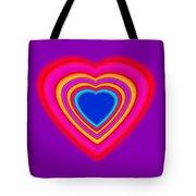 Art Heart Blue Tote Bag