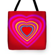 Art Heart Red Tote Bag