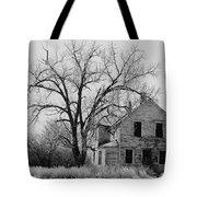 Art Homage Andrew Wyeth Abandoned 1930's Farm House Near Aberdeen South Dakota 1965-2012 Tote Bag