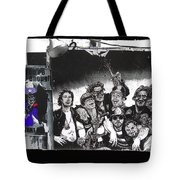 Art Homage James Montgomery Flagg Ww1 Poster Number 2 Midway Arizona State Fair Phoenix 1967 Tote Bag