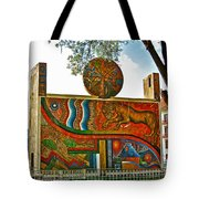 Art In A Cusco Park-peru  Tote Bag